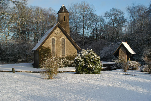 Church in the Snow at Coolcarrigan